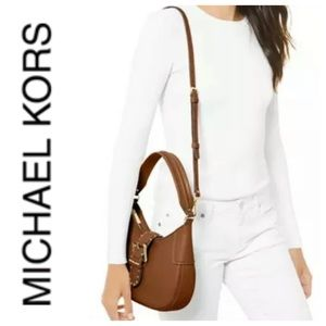 MICHAEL KORS Brown Leather Shoulder Handbag NWT